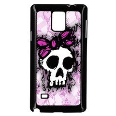 Sketched Skull Princess Samsung Galaxy Note 4 Case (black)