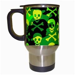 Skull Camouflage Travel Mug (white)