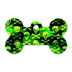 Skull Camouflage Dog Tag Bone (two Sided) by ArtistRoseanneJones