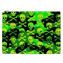 Skull Camouflage Cosmetic Bag (xxl) by ArtistRoseanneJones