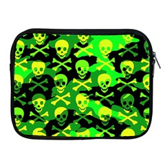 Skull Camouflage Apple Ipad Zippered Sleeve by ArtistRoseanneJones