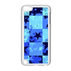 Blue Star Checkers Apple Ipod Touch 5 Case (white) by ArtistRoseanneJones