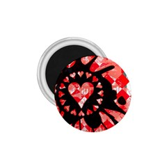 Love Heart Splatter 1 75  Button Magnet by ArtistRoseanneJones