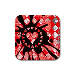 Love Heart Splatter Drink Coasters 4 Pack (square) by ArtistRoseanneJones