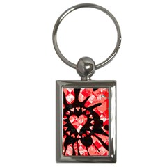 Love Heart Splatter Key Chain (rectangle) by ArtistRoseanneJones