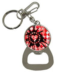 Love Heart Splatter Bottle Opener Key Chain by ArtistRoseanneJones