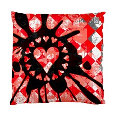 Love Heart Splatter Cushion Case (two Sided)  by ArtistRoseanneJones