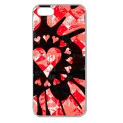 Love Heart Splatter Apple Seamless iPhone 5 Case (Clear) by ArtistRoseanneJones