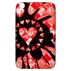 Love Heart Splatter Samsung Galaxy Tab 3 (8 ) T3100 Hardshell Case  by ArtistRoseanneJones