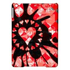 Love Heart Splatter Apple Ipad Air Hardshell Case by ArtistRoseanneJones