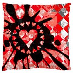 Love Heart Splatter Standard Flano Cushion Case (one Side) by ArtistRoseanneJones