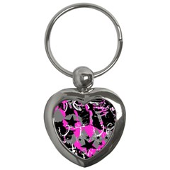 Pink Scene Kid Key Chain (heart) by ArtistRoseanneJones