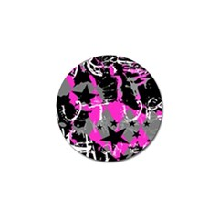 Pink Scene Kid Golf Ball Marker 4 Pack by ArtistRoseanneJones