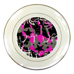 Pink Scene Kid Porcelain Display Plate by ArtistRoseanneJones
