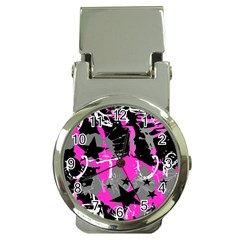 Pink Scene Kid Money Clip With Watch by ArtistRoseanneJones