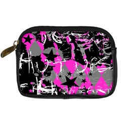 Pink Scene Kid Digital Camera Leather Case by ArtistRoseanneJones