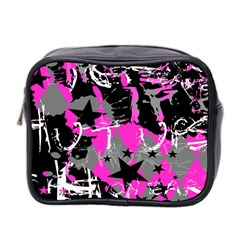 Pink Scene Kid Mini Travel Toiletry Bag (two Sides) by ArtistRoseanneJones