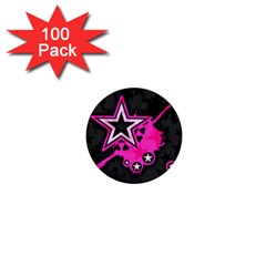 Pink Star Graphic 1  Mini Button (100 Pack) by ArtistRoseanneJones