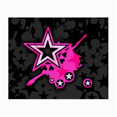 Pink Star Graphic Glasses Cloth (small) by ArtistRoseanneJones