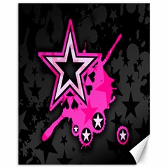 Pink Star Graphic Canvas 11  x 14  (Unframed) by ArtistRoseanneJones