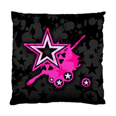 Pink Star Graphic Cushion Case (single Sided)  by ArtistRoseanneJones