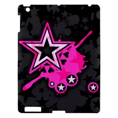 Pink Star Graphic Apple iPad 3/4 Hardshell Case by ArtistRoseanneJones