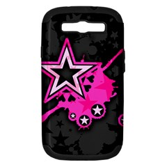 Pink Star Graphic Samsung Galaxy S Iii Hardshell Case (pc+silicone) by ArtistRoseanneJones