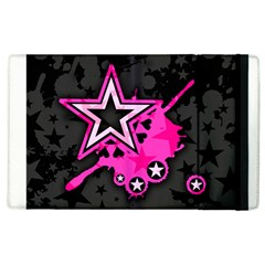Pink Star Graphic Apple Ipad 3/4 Flip Case by ArtistRoseanneJones