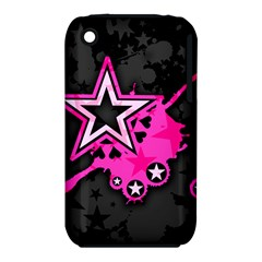 Pink Star Graphic Apple Iphone 3g/3gs Hardshell Case (pc+silicone) by ArtistRoseanneJones