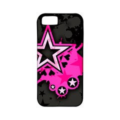 Pink Star Graphic Apple Iphone 5 Classic Hardshell Case (pc+silicone) by ArtistRoseanneJones