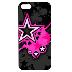 Pink Star Graphic Apple Iphone 5 Hardshell Case With Stand by ArtistRoseanneJones