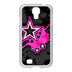 Pink Star Graphic Samsung Galaxy S4 I9500/ I9505 Case (white) by ArtistRoseanneJones