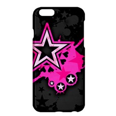 Pink Star Graphic Apple Iphone 6 Plus Hardshell Case by ArtistRoseanneJones