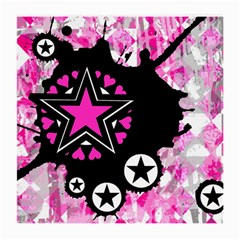 Pink Star Splatter Glasses Cloth (medium) by ArtistRoseanneJones