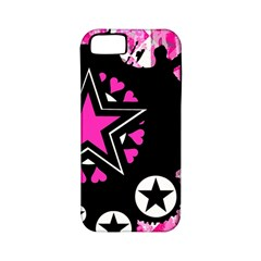 Pink Star Splatter Apple Iphone 5 Classic Hardshell Case (pc+silicone) by ArtistRoseanneJones
