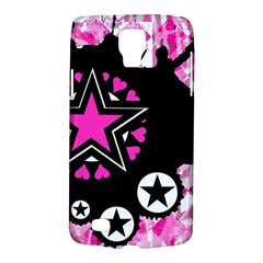 Pink Star Splatter Samsung Galaxy S4 Active (i9295) Hardshell Case by ArtistRoseanneJones