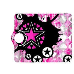 Pink Star Splatter Kindle Fire Hdx 8 9  Flip 360 Case by ArtistRoseanneJones