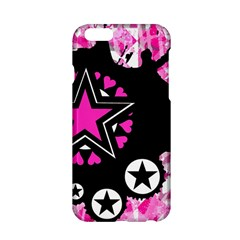 Pink Star Splatter Apple Iphone 6 Hardshell Case by ArtistRoseanneJones