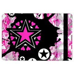 Pink Star Splatter Apple Ipad Air 2 Flip Case by ArtistRoseanneJones