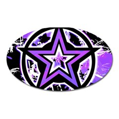 Purple Star Magnet (oval) by ArtistRoseanneJones