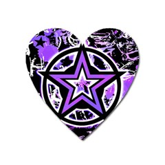Purple Star Magnet (heart) by ArtistRoseanneJones
