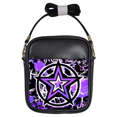 Purple Star Girl s Sling Bag by ArtistRoseanneJones