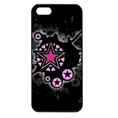 Pink Star Explosion Apple Iphone 5 Seamless Case (black) by ArtistRoseanneJones