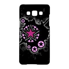 Pink Star Explosion Samsung Galaxy A5 Hardshell Case  by ArtistRoseanneJones