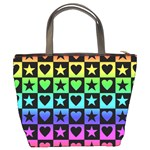 Rainbow Stars and Hearts Bucket Handbag Back