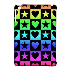 Rainbow Stars And Hearts Apple Ipad Mini Hardshell Case (compatible With Smart Cover) by ArtistRoseanneJones