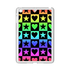 Rainbow Stars And Hearts Apple Ipad Mini 2 Case (white) by ArtistRoseanneJones