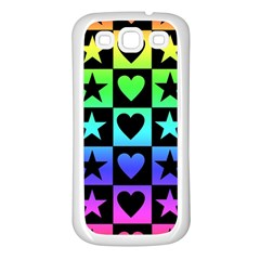 Rainbow Stars And Hearts Samsung Galaxy S3 Back Case (white) by ArtistRoseanneJones