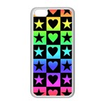 Rainbow Stars and Hearts Apple iPhone 5C Seamless Case (White) Front