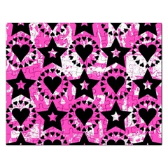 Star And Heart Pattern Jigsaw Puzzle (rectangle) by ArtistRoseanneJones